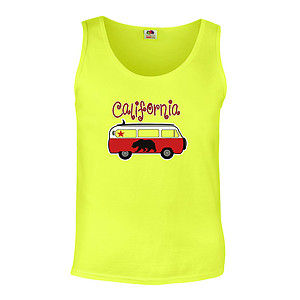 California Red Van Bus T-Shirt