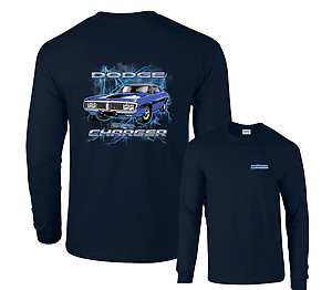 Purple Dodge Charger Lightning Chrysler T-Shirt Clearance