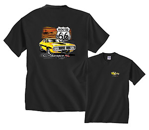 Route 66 Yellow Dodge Charger R/T Chrysler T-Shirt
