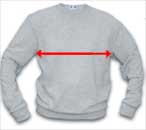 Crew Sweatshirt Width