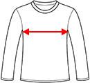 long sleeve width