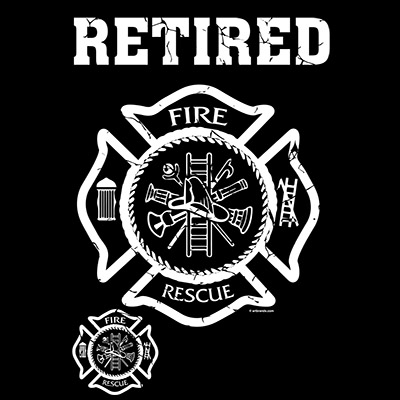 Retired Firefighter T-Shirt Maltese Cross fire rescue