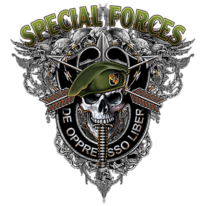 Army Special Forces T-Shirt F&B De Oppresso Liber