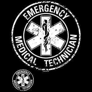 EMT Emergency T-Shirt Medical Technician Circle Distressed