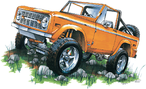 Classic Ford Bronco Orange 4x4