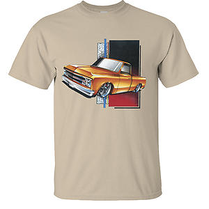 Chevy C-10 Lowered Orange Truck Chevrolet T-Shirt