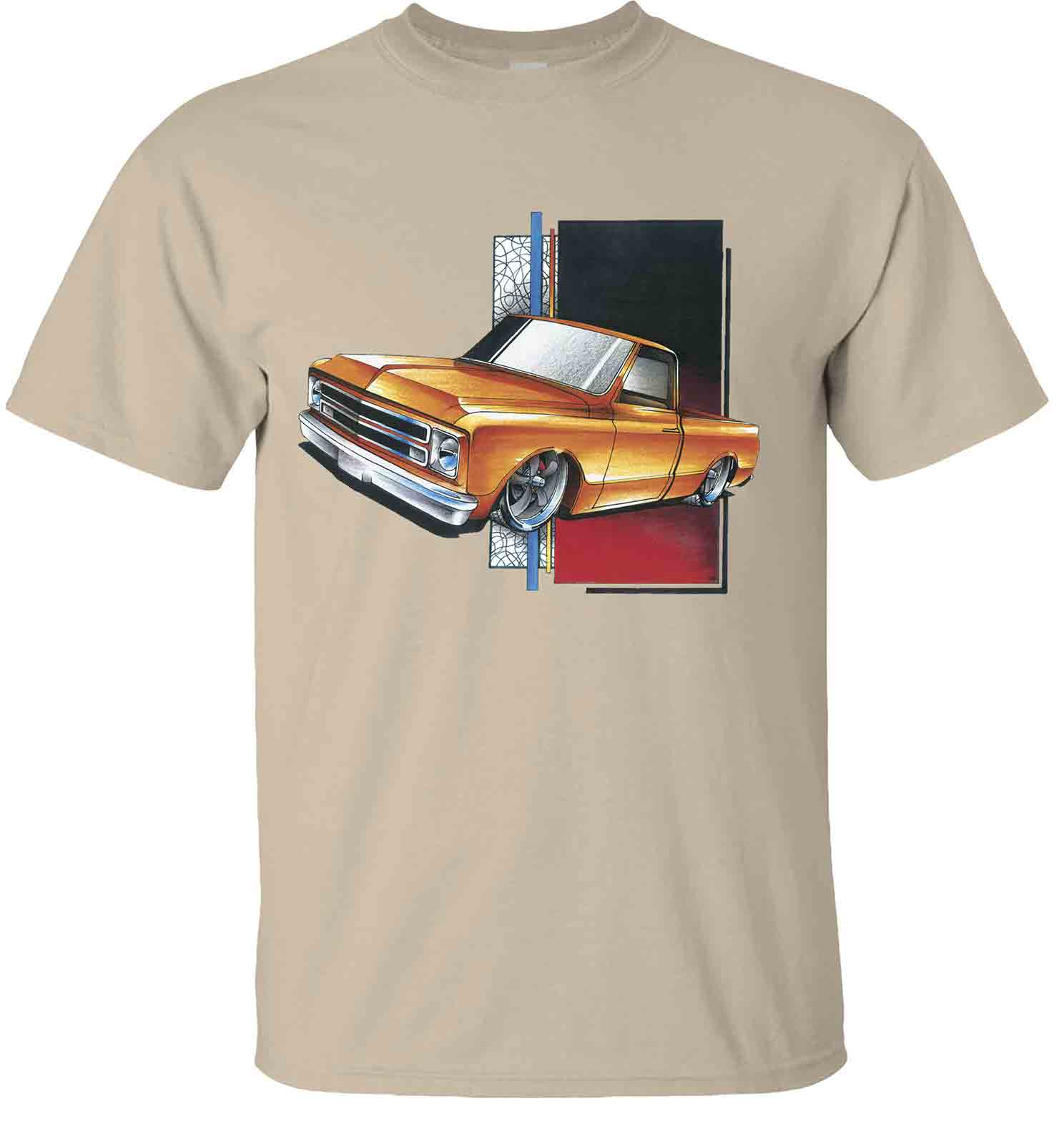 chevy-c-10-lowered-orange-truck-chevrolet-t-shirt-sand.jpg