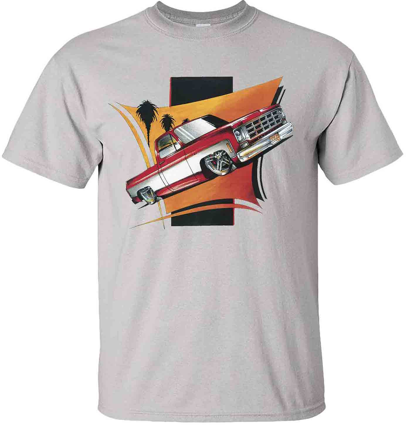 red-chevy-pickup-lowered-silverado-cheyenne-truck-t-shirt-ice-grey.jpg